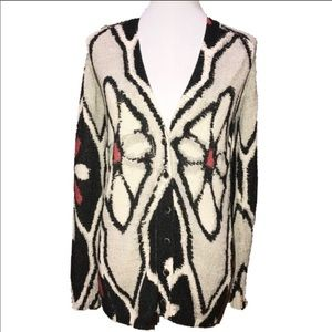 Anthro Cardy Field Flower Red black white